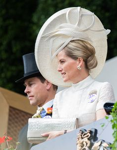 Sophie, Countess of Wessex and Prince Edward, Earl of Wessex on day 1 of Royal Ascot at Ascot Racecourse on June 2015 in Ascot, England. Fascinator Hats, Fascinators, Headpieces, Royal Ascot Hats, Kentucky Derby Hats, Fancy Hats, Wedding Hats, Love Hat, Royal Fashion