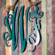 Monogram Door Hanger, Custom Door Wreath, Valentine Gift, Metal Letters,  Nursery,. Initial DecorInitial WallMonogram ... Part 50