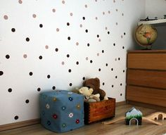 Gyors, egyszerű és nagyon mutatós faldekoráció - Masni / Easy, quick dotted wall decor idea, DIY
