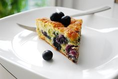 Blueberry Buttermilk Cake - light, moist, delicious and super easy!  An instant favorite.
