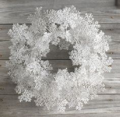 Cute winter wreath. Could very easily make with craft store materials & a foam ring/wreath base.