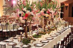 Love these tall centerpieces! Elegant Enchanted Garden Pink and Green Wedding Green Centerpieces, Wedding Centerpieces, Wedding Table, Wedding Reception, Wedding Decorations, Renewal Wedding, Wedding Bells, Enchanted Garden Wedding, Winter Wonderland Wedding