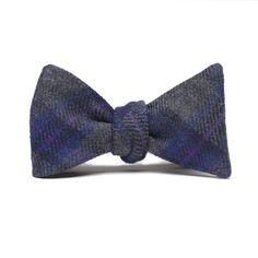 Taylor Stitch Grey Plaid Wool Bow Tie