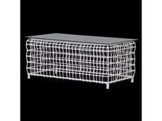 Coach House White Mesh Coffee Table with Glass £311.60