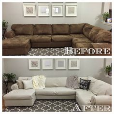 Make a Dropcloth Sofa Sectional Slipcover Jello Living rooms