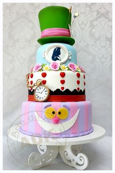 "Alicia in wonderland cake ""Bravo"" ArtedeKa!"