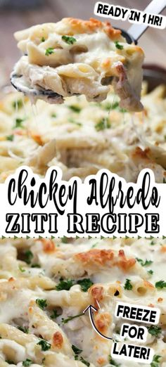 Five Approaches To Economize Transforming Your Kitchen Area This Chicken Alfredo Baked Ziti Is So Easy To Make. With Chicken, Bacon, Pasta And A Creamy, Cheesy Homemade Alfredo Sauce, It's The Best Weeknight Meal. Alfredo Pasta Bake, Alfredo Recipe, Alfredo Sauce, Chicken Ziti, Chicken Bacon Pasta, Chicken Alfredo With Bacon, Fish Pasta, Cooked Chicken, Rotisserie Chicken