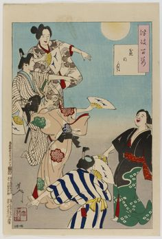 Moon at the Bon Festival From the series One Hundred Aspects of the Moon (Tsuki Hyakushi)  Tsukioka Yoshitoshi, Japanese, 1839 - 1892. Engra...