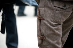 brown/leather pants