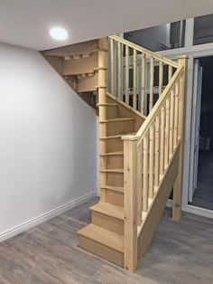 Small Space Staircase, Space Saving Staircase, Loft Staircase, Attic Stairs, Basement Stairs, House Stairs, Spiral Staircases, Stairs In Small Spaces, Stairs To Attic