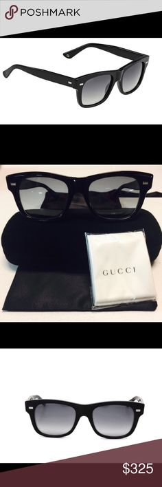 Gucci/Gucci-GG-1078/S-4UA unisex sunglass Gucci Gucci GG 1078/S sunglasses are great for any occasion. The perfect color combination of Black and Grey Gradient make this pair a great addition to any outfit. , these stylish sunglasses are perfect for a day out in the urban jungle, hiking or hitting the beach. Black Gucci GG 1078/S shades are a must have fashion-forward accessory! No tag Gucci Accessories Sunglasses