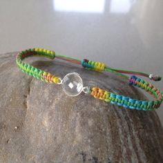 Items similar to Crystal quartz macrame bracelet, semiprecious faceted bezel on Etsy Macrame Bracelets, Quartz Crystal, Personalized Items, Crystals, Trending Outfits, Unique Jewelry, Handmade Gifts, Vintage, Etsy