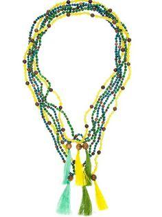 Radà Beaded Tassel Necklace