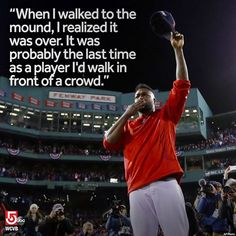 You may not walk out to the mound as a player, but you'll always be a part of the #RedSox Big Papi! ⚾