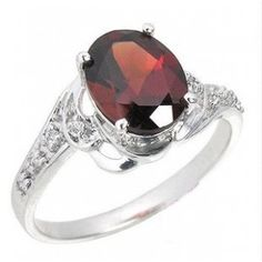 1.5 Carats antique Garnet Engagement Ring for Women