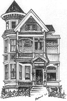 Pics For > Victorian House Illustration