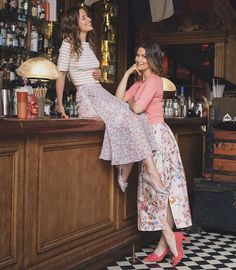More from our favourite international sisters from Notting Hill & New York via Kenya. @claire_eastwood & @thelondonchatter. Kelly wears the Daphne Top, Karo Skirt & Martha Shoes. Claire wears the Karin Cardigan, Tiara Skirt (now in the sale) & Caitlyn Heels. Instagram Creative Director @am_meyers 📸 @evaksalvi Beauty @nevillesalon Location @mrfoggsgb #lkbennett