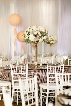 #linens, #chair  Photography: Ashlee Raubach Photography - www.ashleeraubach.com  Read More: http://www.stylemepretty.com/2014/04/30/black-white-blush-seaside-wedding/