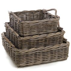 Beautiful Square Wicker Trays | The Basket Lady