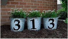 57 Ideas Landscaping Front Yard Curb Appeal Flower Beds Home For 2019 Lawn And Garden, Home And Garden, Mailbox Garden, Garden Beds, Decoration Entree, Compost Tumbler, House Numbers, House Number Plaque, Door Numbers