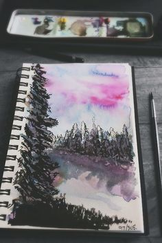 Watercolor: Wish I could do this well. It's hard