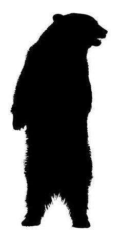 Standing Black Bear - Vinyl Decal Sticker - x - Black Animal Silhouette, Silhouette Art, Bear Stencil, Bear Clipart, Free Clipart Images, Wood Burning Patterns, Guache, Bear Art, Pallet Art