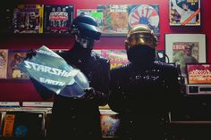 Daft punk in record store