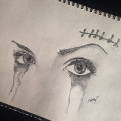 #eye #eyes #eyelashes #mascara #tears #cut #crying #artfido #artpage #art_nest #artcollective #bestdrawing #handdrawnart #art #artist #drawing #pencil #derwent #prophetsandpoets #nawden #sharing_artists #sketch #sketching #sketchbook