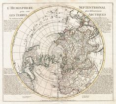 This is a stunning and important map of the Northern Hemisphere originally drawn by Guillaume de L'Isle in 1714 and updated by Coven's and Mortier in 1741.