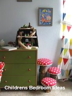 74 Crazy DIY ideas that all parents would have liked to hear about earlier- 74 wahnsinnig clevere DIY-Ideen, von denen alle Eltern gern früher gehört hätten Cheer up the nursery with these sweet mushroom chairs … - Kids Art Easel, Mushroom Chair, Diy Kids Kitchen, Halloween Decorations For Kids, Kids Room Organization, Childrens Room Decor, Kids Room Design, Room Themes, Clever Diy