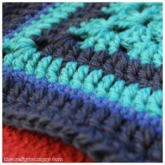 Crochet Granny Square - The Crafty Mummy Crochet Square Blanket, Crochet Squares, Crochet Granny, Hand Crochet, Knit Crochet, Crochet Blankets, Granny Squares, Crochet Books, Crochet Crafts