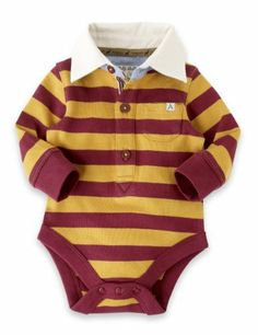 Autograph Pure Cotton Striped Rugby Bodysuit-Marks & Spencer