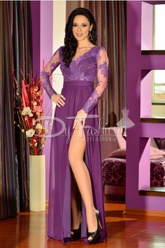 rochie lunga mov - rochii de seara lungi Prom Dresses, Formal Dresses, Asos, One Shoulder, Women's Fashion, Outfits, Dressmaking, Dresses For Formal