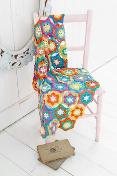 Hexagon star  crochet blanket by style craft,  from deramores