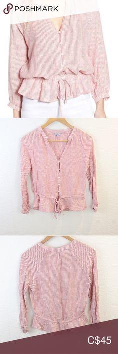 """Rails Marti stripe linen blouse Great condition. Pit to pit 19"""" Length 22"""" Rails Tops Blouses"""