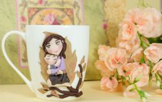 "Tazza in ceramica Mug ""Love Mum"" di telasimona su Etsy"