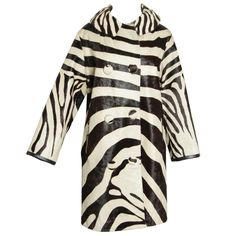 1960's Optical and Mod Zebra Print Coat | From a collection of rare vintage coats and outerwear at http://www.1stdibs.com/fashion/clothing/coats-outerwear/