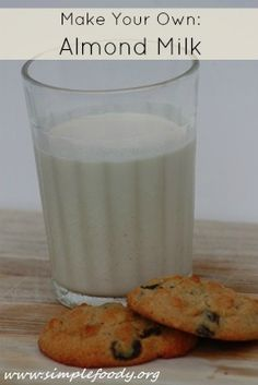 How to make your own almond milk. Fantastic tutorial with amazing pics!