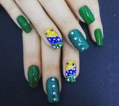Unhas decoradas do Brasil - Unhas da Copa 2018 #unhas #unhasdacopa #unhasdobrasil #copa #copa2018 #brasil #brazil  #unhasdecoradas #esmaltes #nails #nailart #nailpolish #nailstagram