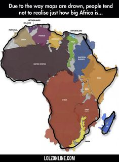 How Big Africa Is...#funny #lol #lolzonline