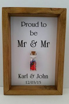 Mr & Mr, Same sex wedding, Mr and Mr card, Personalised gay wedding gift, Add names/date Wedding Gifts For Newlyweds, Wedding Gift Boxes, Unique Wedding Gifts, Wedding Frames, Personalized Wedding Gifts, Wedding Ideas, Scrabble Wedding, Mr And Mrs Wedding, Lesbian Wedding