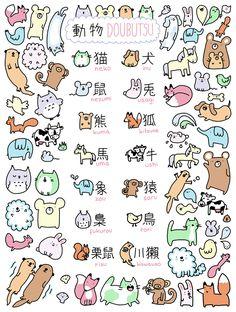 kanji for animals