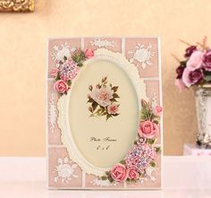 FREE SHIPPING European Resin carved flowers photo frame Wedding Birthday Party Christmas Valentine's day favors