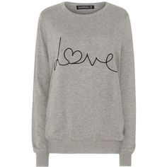Sugarhill Boutique Love Sweater, Grey Marl (2.530 RUB) ❤ liked on Polyvore featuring tops, sweaters, round neck sweater, sugarhill boutique, marled grey sweater, gray sweaters and gray top