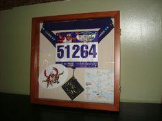 Shadow box from my first half marathon.
