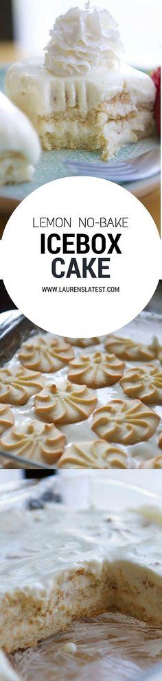Lemon No-Bake Ice Box Cake...the best dessert for summer! Easiest recipe in the world.