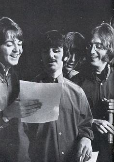 Paul McCartney, Richard Starkey, George Harrison, and John Lennon