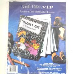 Cranston Fabric Panel Teacher's Pets Learning Book 3252RB 8 x 10 In Finished VIP