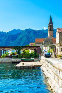 A picturesque little town on the Bay of Kotor in ... MONTENEGRO... Perast is home to a collections of churches ......  The number of sunny days per year is 240 ... ...  not bad! ....  #Montenegro