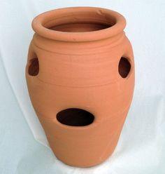 "Standard Strawberry Pot - Herb Jar - Terracotta - 6 Pocket - 2 Gallon - 7"""" x 13"""""